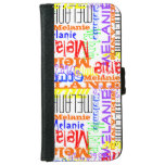 Personalized Custom Name Collage Colorful iPhone 6/6s Wallet Case