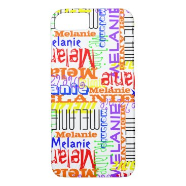birthday Personalized Custom Name Collage Colorful iPhone 7 Case