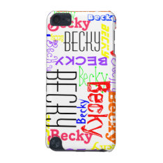 Personalized Custom Name Collage Colorful Ipod Touch 5g Case at Zazzle