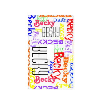Personalized Custom Name Collage Colorful Light Switch Cover