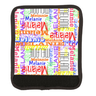 Personalized Custom Name Collage Colorful Luggage Handle Wrap