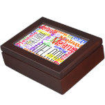 Personalized Custom Name Collage Colorful Memory Box