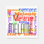 Personalized Custom Name Collage Colorful Napkin