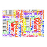 Personalized Custom Name Collage Colorful Placemat