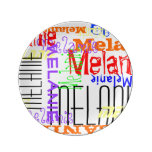 Personalized Custom Name Collage Colorful Plate