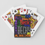 Personalized Custom Name Collage Colorful Poker Cards