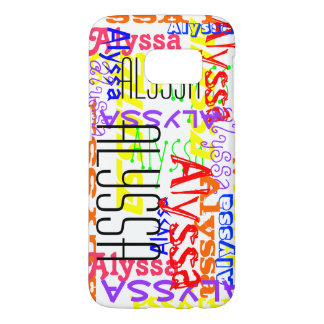Personalized Custom Name Collage Colorful Samsung Galaxy S7 Case