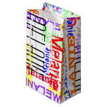 Personalized Custom Name Collage Colorful Small Gift Bag