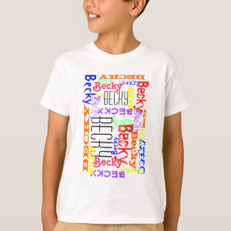 Personalized Custom Name Collage Colorful T-Shirt
