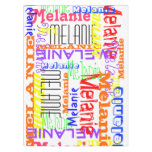 Personalized Custom Name Collage Colorful Tablecloth