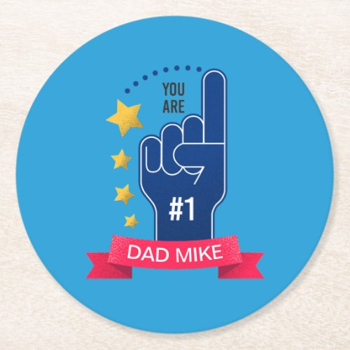 Personalized Custom Name Fathers Day  Coaster