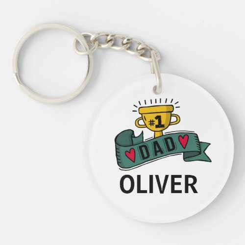 Personalized Custom Name Fathers Day  Keychain