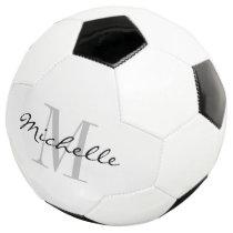 Personalized custom name monogram soccer ball gift