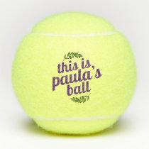 Personalized Custom Name Tennis Balls