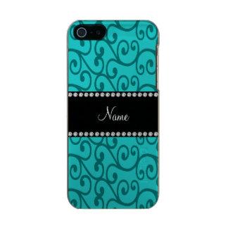 Personalized custom name turquoise swirls incipio feather® shine iPhone 5 case