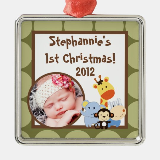 Personalized Custom Ornament Jungle Play