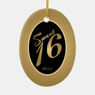 Personalized Custom Ornament Sweet 16 Gold