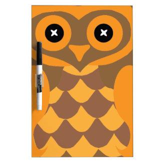 Personalized Custom Owl design Dry-Erase Board