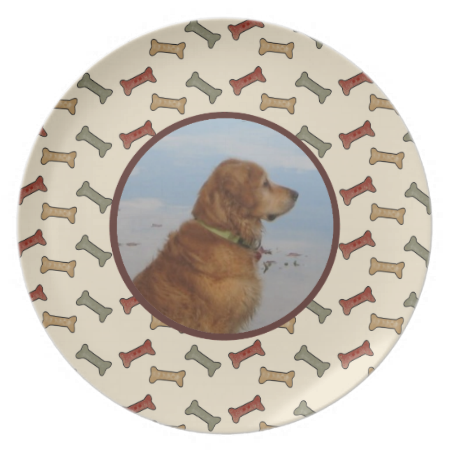personalized pet photo custom dinner plate