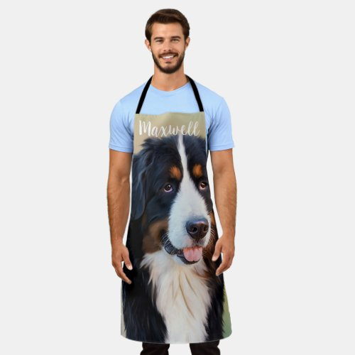 Personalized Custom Pet Photo Dog Owners Apron
