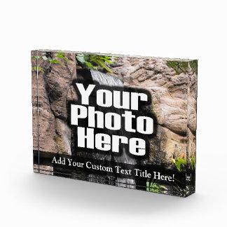 Personalized Custom Photo Acrylic Desk Block