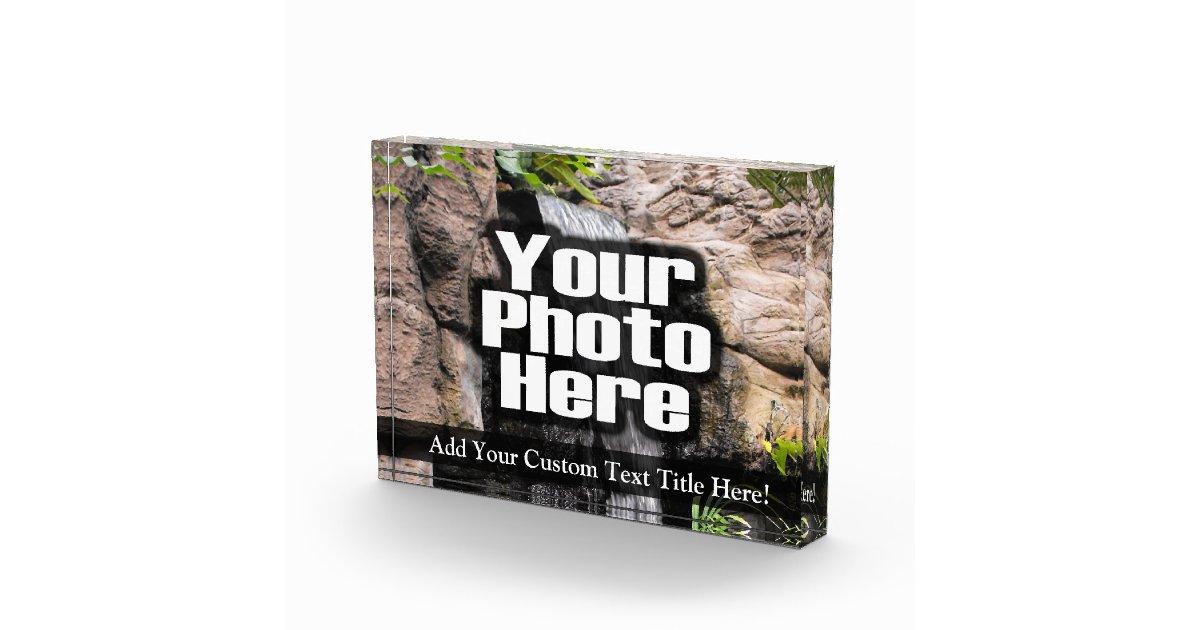 Personalized custom photo acrylic desk block award zazzle for Custom acrylic blocks