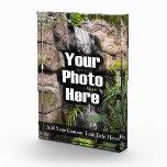 Personalized Custom Photo Acrylic Desk Block, Tall Award