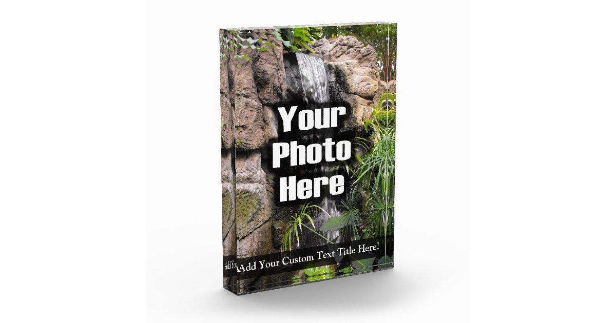 Personalized Custom Photo Acrylic Desk Block Tall Award