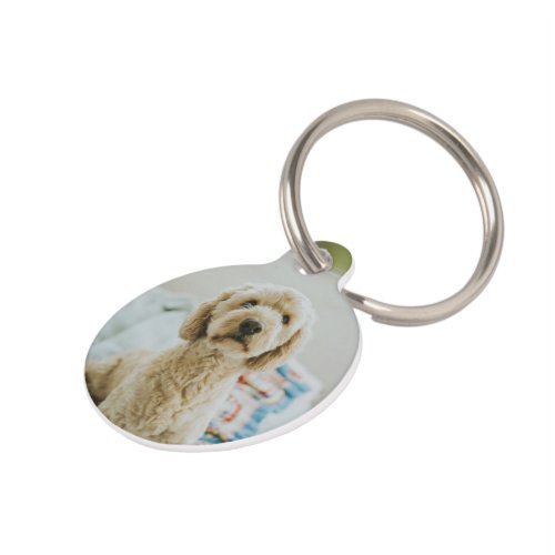 Personalized Custom Photo And Text Pet ID Tag