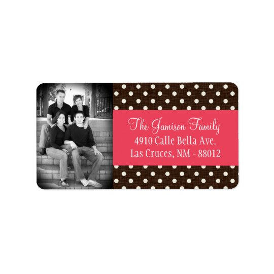 Personalized Custom Photo Brown Polk Mailing Label