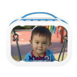 Personalized Custom Photo Child&#39;s Lunchbox<br><div class='desc'>Personalize these environmentally friendly,  BPA free lunch boxes with your child&#39;s photo and name.  You also have a choice of colors for the side panels.  The faceplates can also be changed (coming soon in the future.  For now go to the Yubo site for ordering).</div>