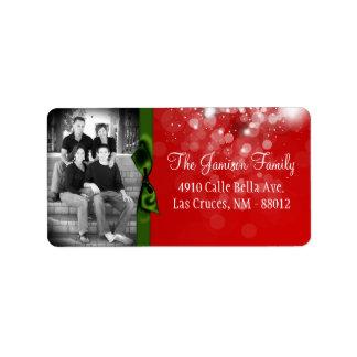 Personalized Custom Photo Christmas Mailing Label Address Label