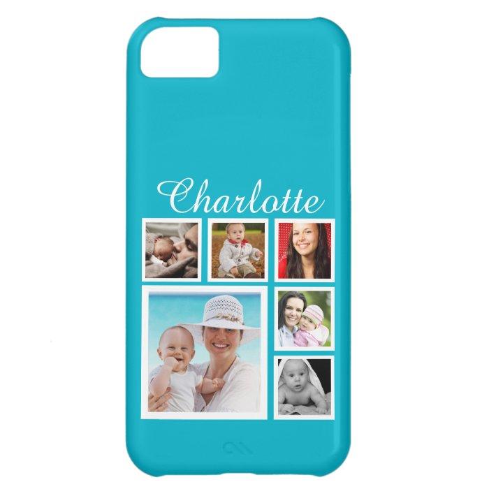 Personalized Custom Photo Collage Customizable iPhone 5C Case : Zazzle