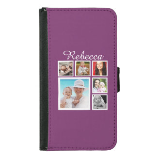 Personalized Custom Photo Collage Customizable Wallet Phone Case For Samsung Galaxy S5