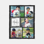 Personalized Custom Photo Collage Monogrammed Gift Fleece Blanket at Zazzle