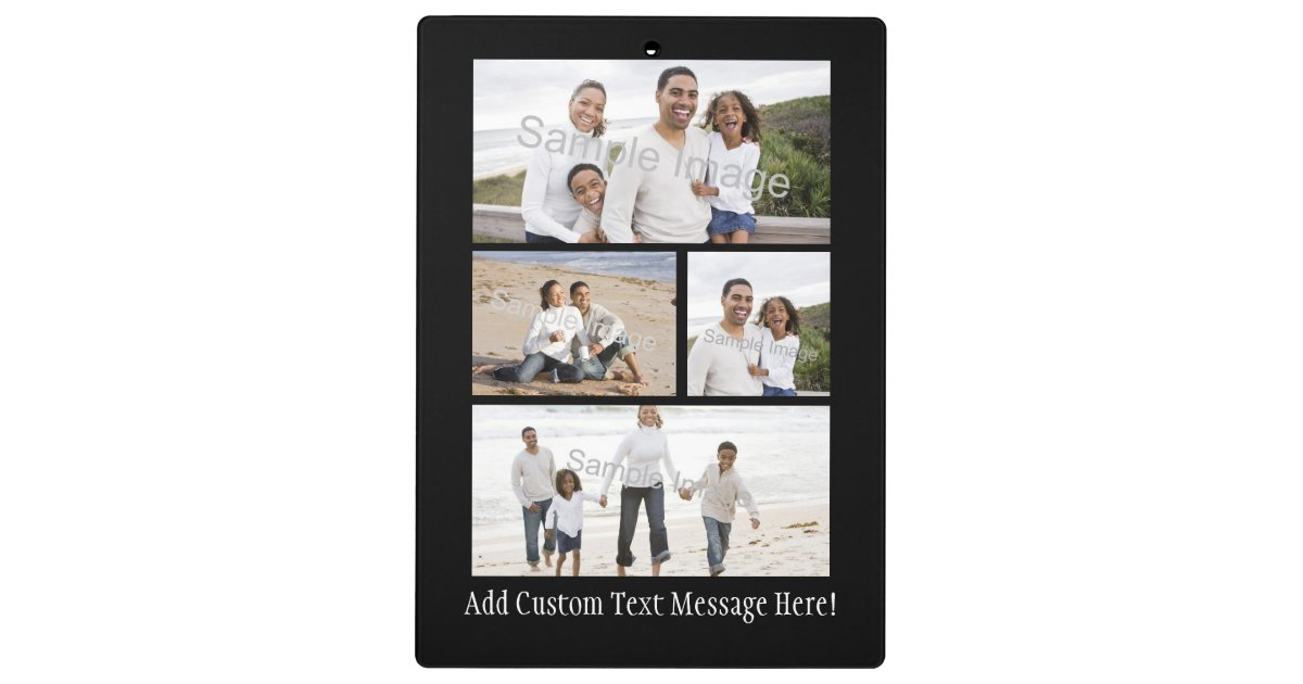 Personalized Custom Photo Collage Montage Clipboard