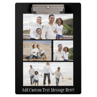 Personalized Custom Photo Collage Montage Clipboards