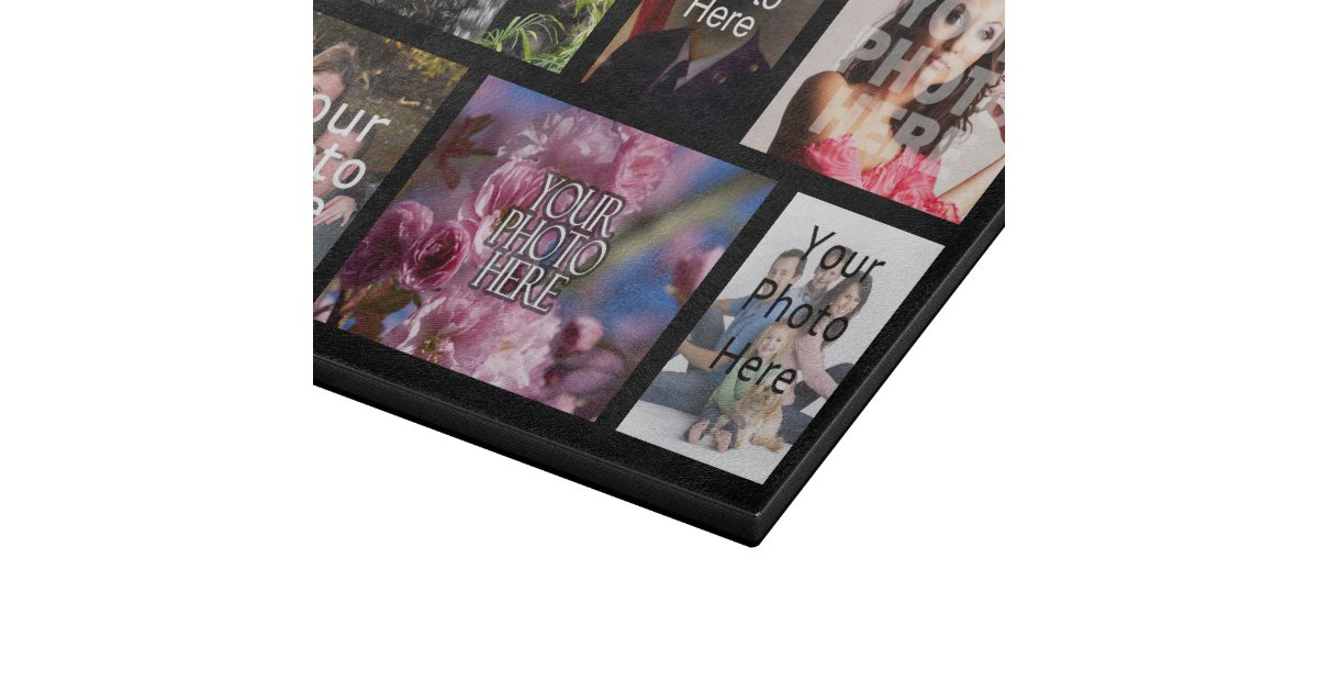 Personalized Custom Photo Collage Montage Cutting Board ...