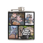 Personalized Custom Photo Collage Montage Flask