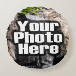 Personalized Custom Photo Gift Round Pillow