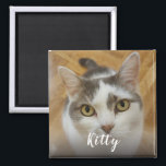 """Personalized Custom Photo Magnet<br><div class=""""desc"""">Upload a photo, add a name, and easily create your personalized photo magnet. Click CUSTOMIZE to change the text color or text size. You can TRANSFER this DESIGN on other Zazzle products and adjust it to fit most of the Zazzle items. You can also click the CUSTOMIZE button to add,...</div>"""
