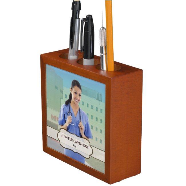 Personalized Custom Photo Nurse Pencil/Pen Holder