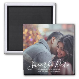 Personalized Custom Save The Date Wedding | PHOTO Magnet