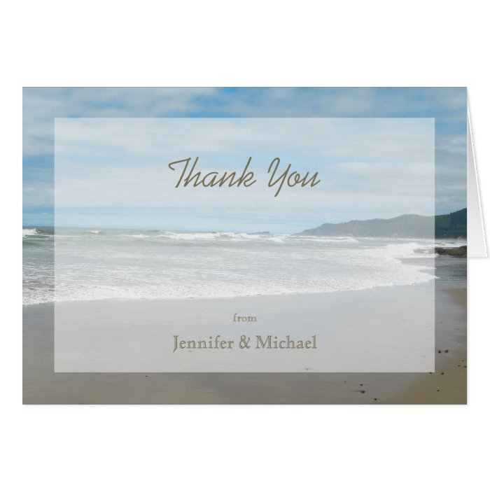 Personalized Custom Thank You Note Card