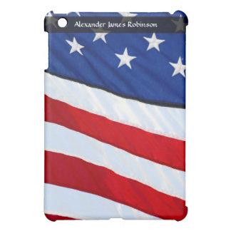 Personalized Custom USA Patriotic Flag Design iPad Mini Covers