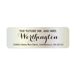 Personalized Custom Wedding Future Mr and Mrs Label at Zazzle