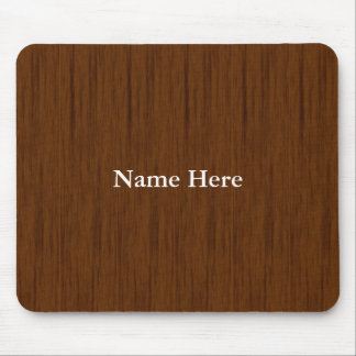 Personalized Custom Wooden Background Mouse Pad