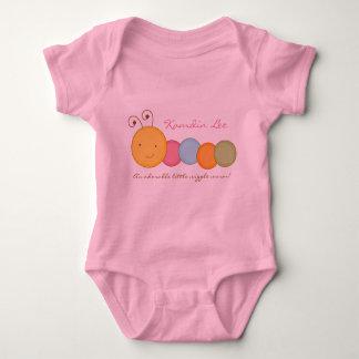Personalized Custom Worm Baby One Sie Body Suit Baby Bodysuit