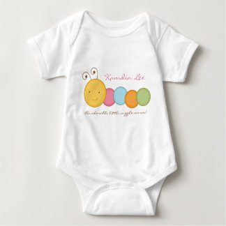 Personalized Custom Worm Baby One Sie Body Suit Shirt