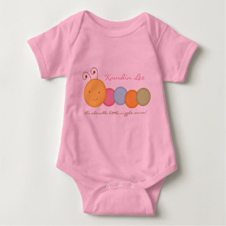 Personalized Custom Worm Baby One Sie Body Suit Tee Shirts